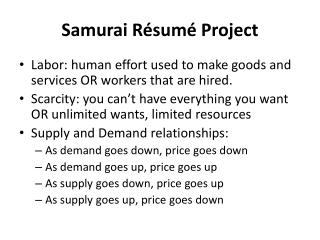 Samurai Résumé Project