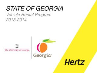 STATE OF GEORGIA Vehicle  Rental Program 2013-2014