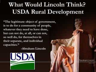 What Would Lincoln Think?