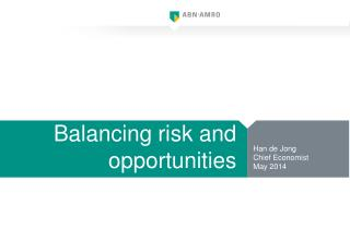 Balancing  risk and  opportunities