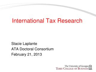 International Tax Research