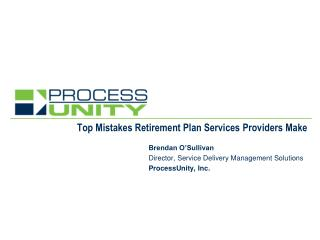 Top Mistakes Retirement Plan Services Providers Make
