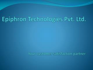 Epiphron Technologies Pvt. Ltd.