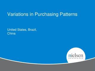 Variations in Purchasing Patterns