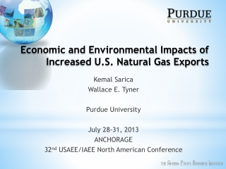 Economic and Environmental Impacts of Increased U.S. Natural Gas Exports