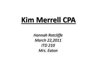 Kim Merrell CPA