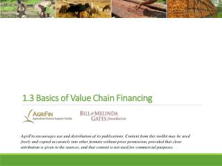 1.3 Basics of Value Chain Financing