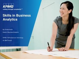 Skills in Business  Analytics