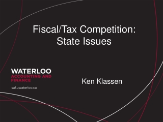 Fiscal/Tax Competition: State Issues