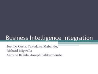 Business Intelligence Integration