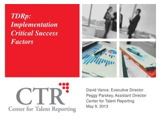 TDRp: Implementation Critical Success Factors