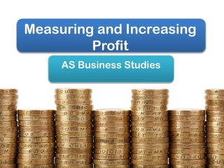 Measuring and Increasing Profit