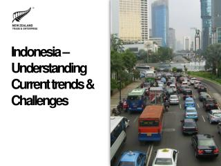 Indonesia �  Understanding Current trends & Challenges