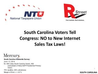 South Carolina Voters Tell Congress: NO to New Internet Sales Tax Laws!