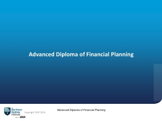 Advanced Diploma of Financial Planning