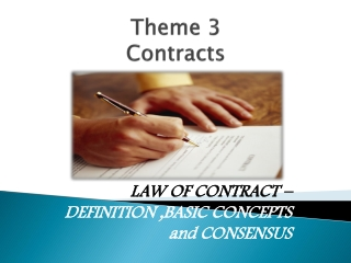 Theme 3  Contracts