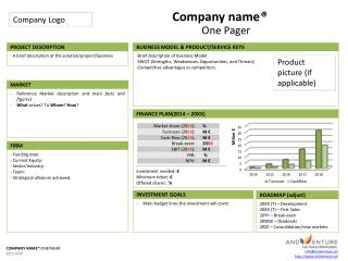 Company name ®  One Pager