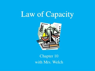 Law of Capacity