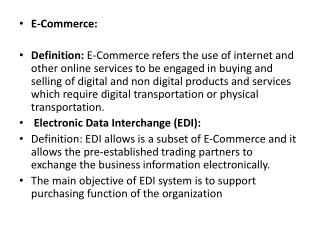 E-Commerce: