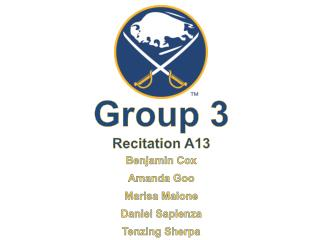 Group 3 Recitation  A13