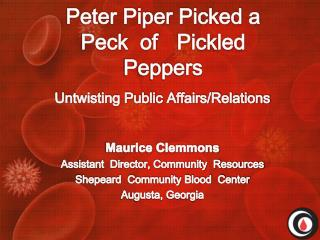 Peter Piper Picked a Peck  of 	Pickled Peppers