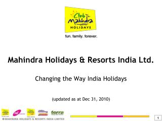 Mahindra Holidays & Resorts India Ltd.