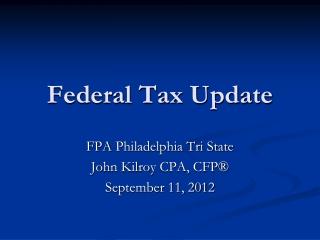Federal Tax Update