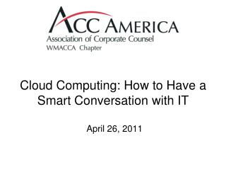 Cloud Computing: How to Have a Smart Conversation with IT