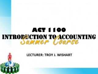 ACT 1100 INTRODUCTION TO ACCOUNTING