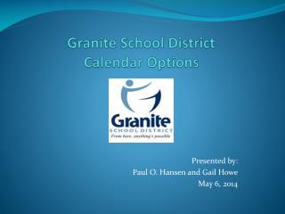Granite  School District Calendar Options