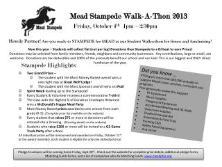 Mead Stampede Walk-A-Thon 2013