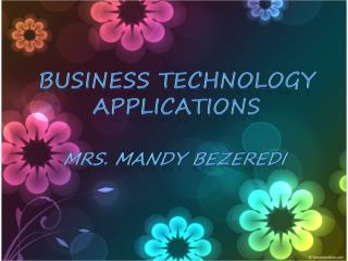Business Technology Applications