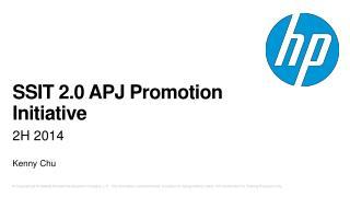 SSIT 2.0 APJ Promotion Initiative