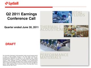 Q2 2011 Earnings Conference Call  Quarter ended June 30, 2011