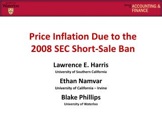 Price Inflation Due to the  2008 SEC Short-Sale Ban