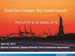 Port of NY & NJ Sandy 2012