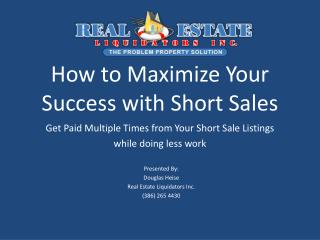 How to Maximize Your Success with Short Sales