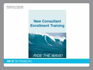 New Consultant Enrollment Training