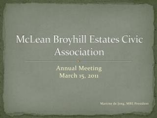 McLean  Broyhill  Estates Civic Association