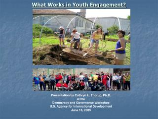 what works in youth engagement