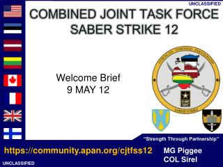 Welcome Brief 9 MAY 12