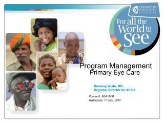 Program Management Primary Eye Care