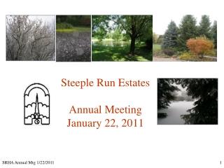 Steeple Run Estates Annual Meeting January 22, 2011