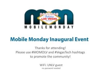 Mobile Monday Inaugural Event