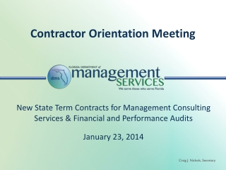 Contractor  Orientation Meeting
