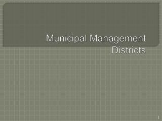 Municipal Management Districts