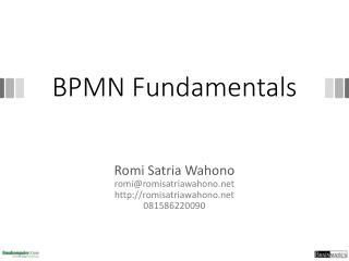 BPMN Fundamentals