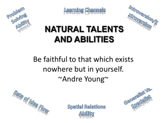 NATURAL TALENTS AND ABILITIES