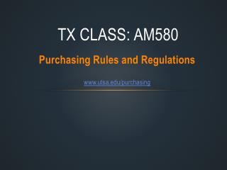 TX Class:  AM580