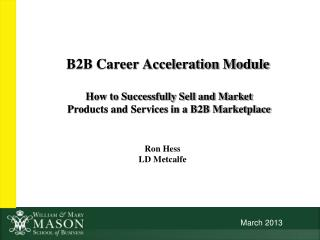 B2B Career Acceleration Module